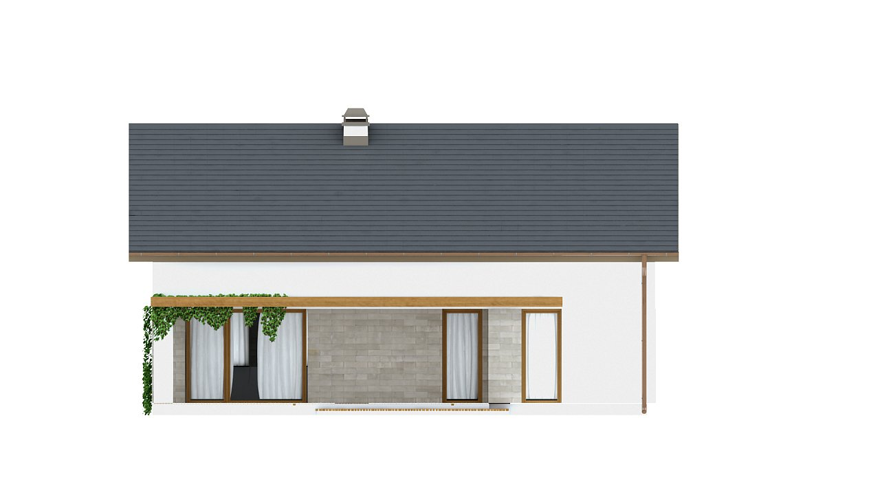 Проект небольшого практичного одноэтажного дома. Есть возможность обустройства чердачного помещения. 22