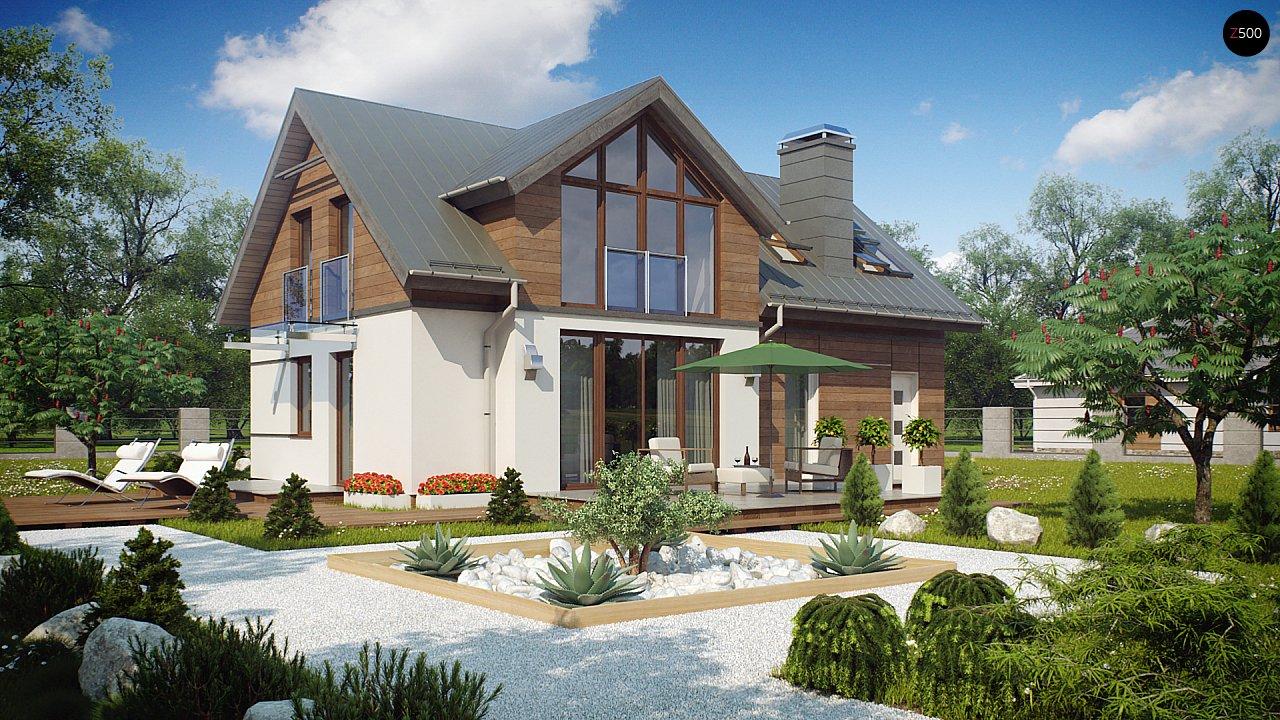 Удобный и красивый дом с красивым окном во фронтоне. 2