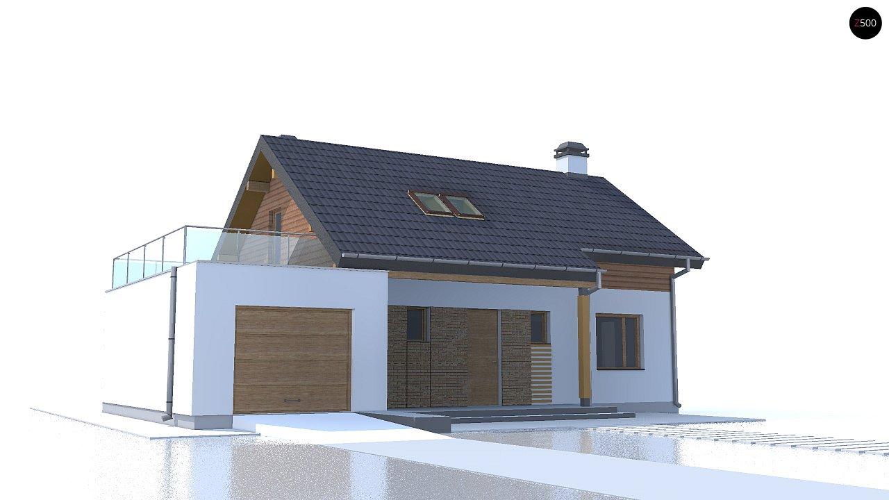 Версия проекта Z210 c гаражом, с альтернативной планировкой. - фото 3