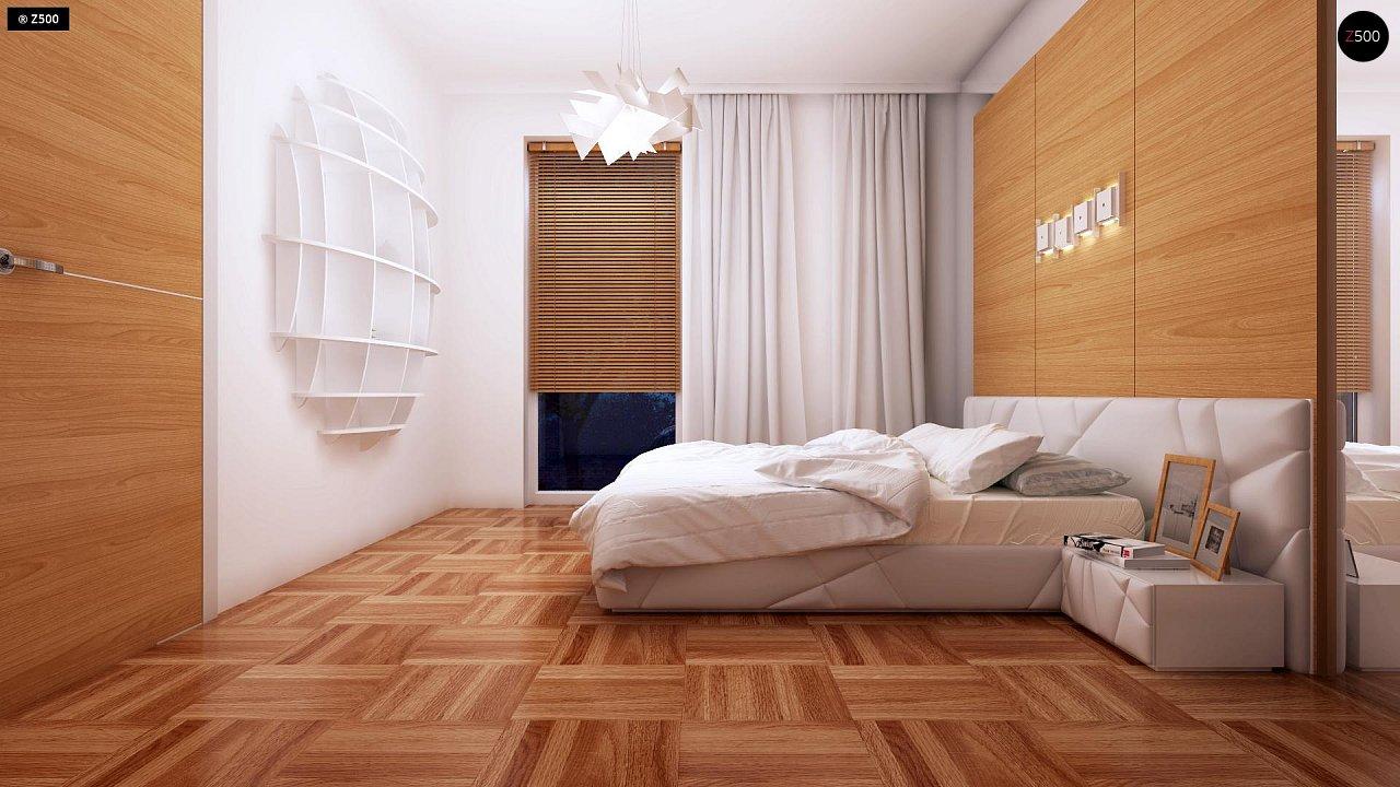 Компактный одноэтажный дом простой формы с возможностью обустройства чердачного помещения. 10