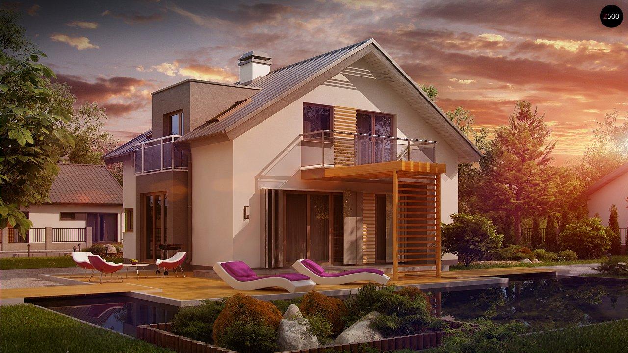 Дом традиционной формы с современными элементами в архитектуре. Уютный и функциональный интерьер. - фото 1