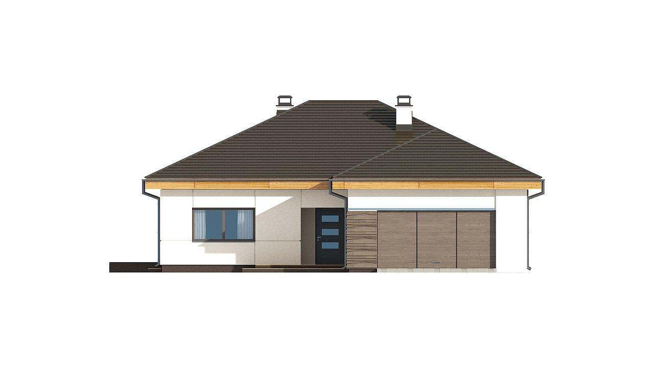 вариант проекта Z96 с измененной формой крыши и с крытой террасой. 11