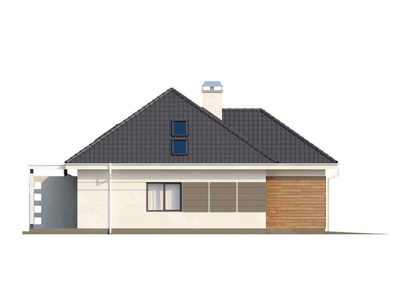 Просторный дом традиционной формы с гаражом и дополнительной небольшой ночной зоной на первом этаже. - фото 14