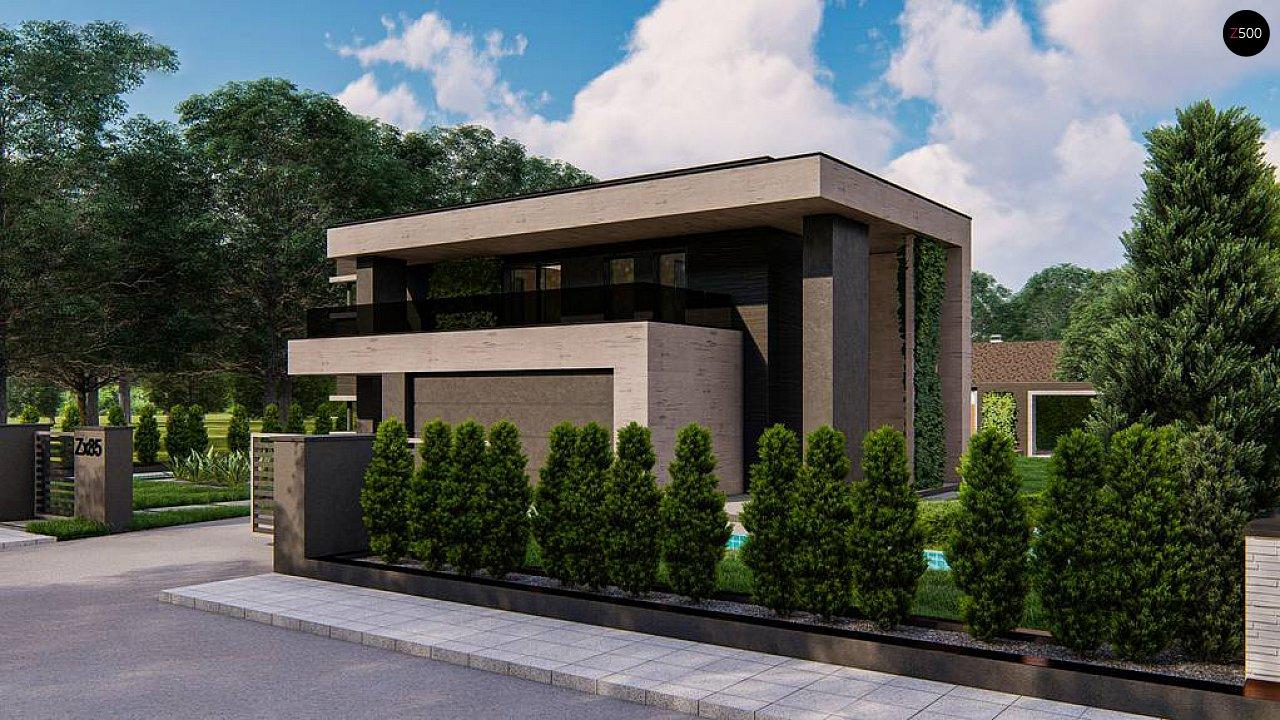 Современный двухэтажный дом с плоской кровлей 5