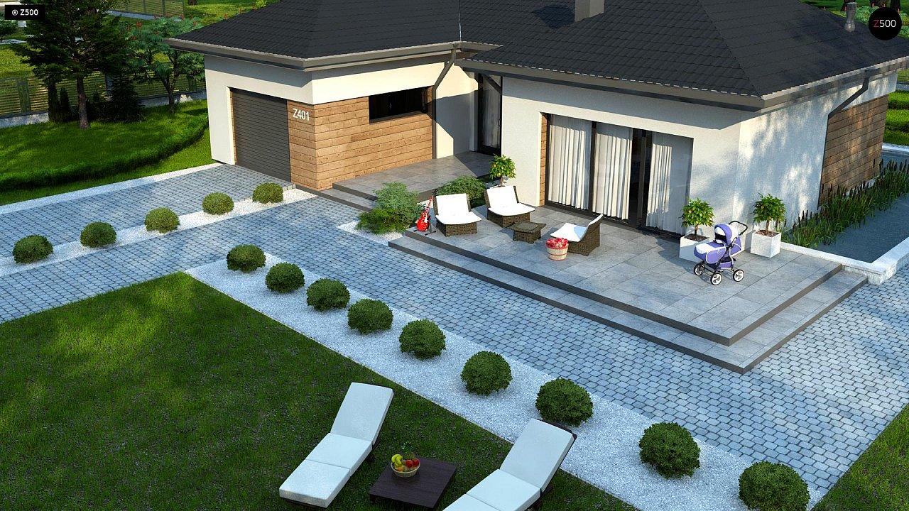 Проект комфортного одноэтажного дома в европейском стиле. 6