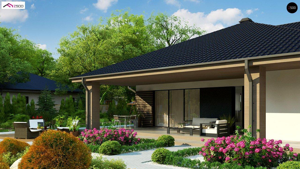Компактный одноэтажный дом стильного дизайна 1