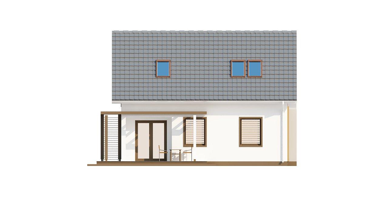 Проект каркасного мансардного дома в классическом дизайне 13