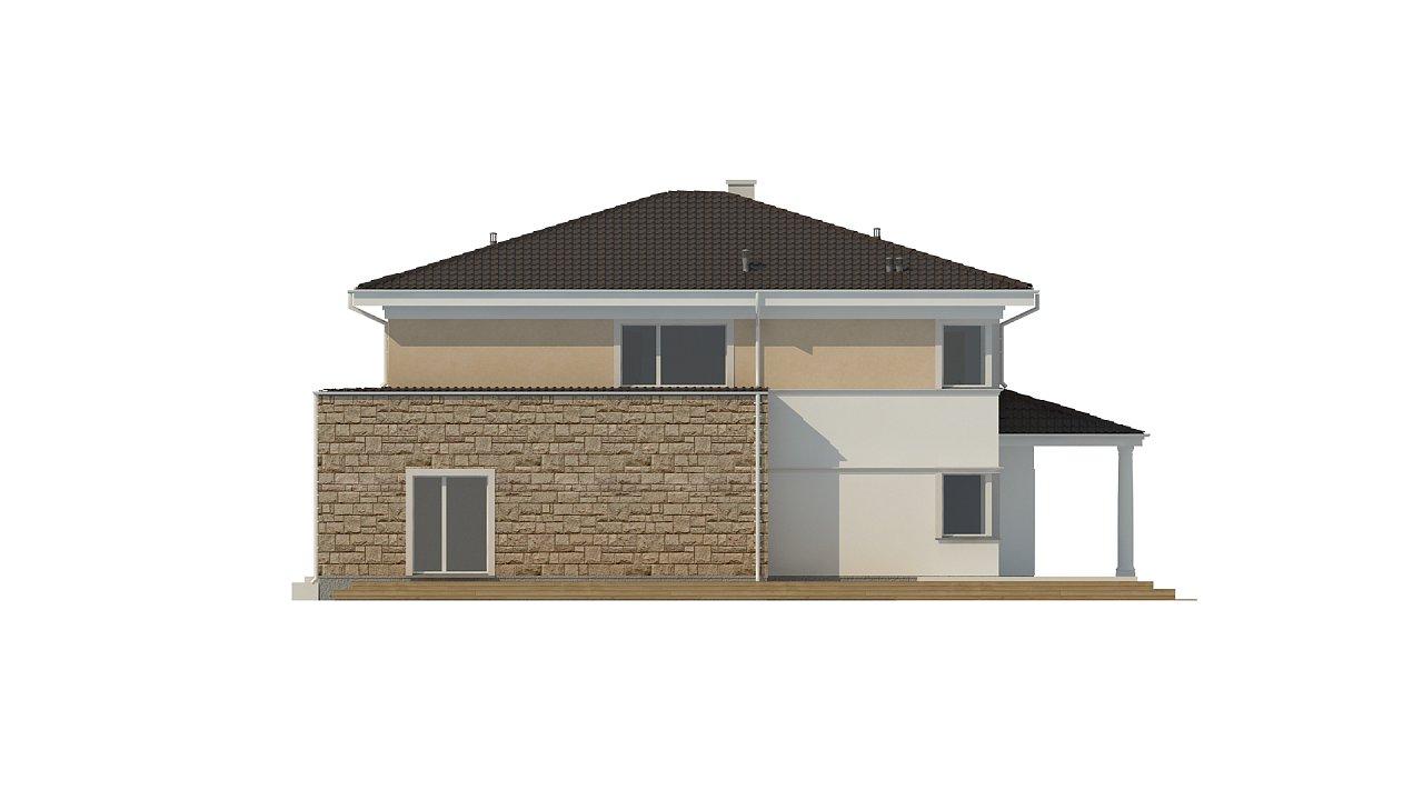 Проект комфортной двухэтажной виллы в традиционном стиле. 9