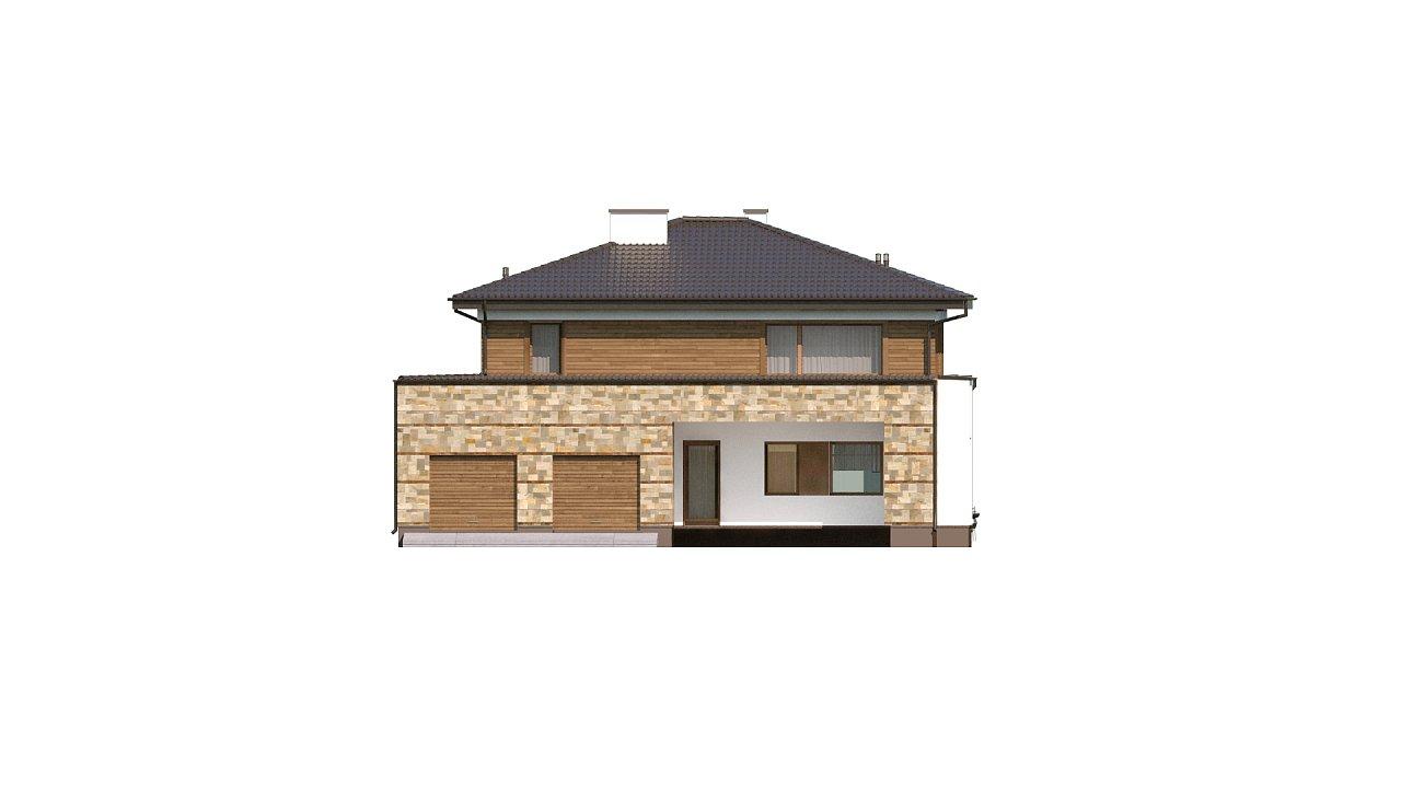 Проект двухэтажного дома с гаражом для двух авто, с баней - фото 7