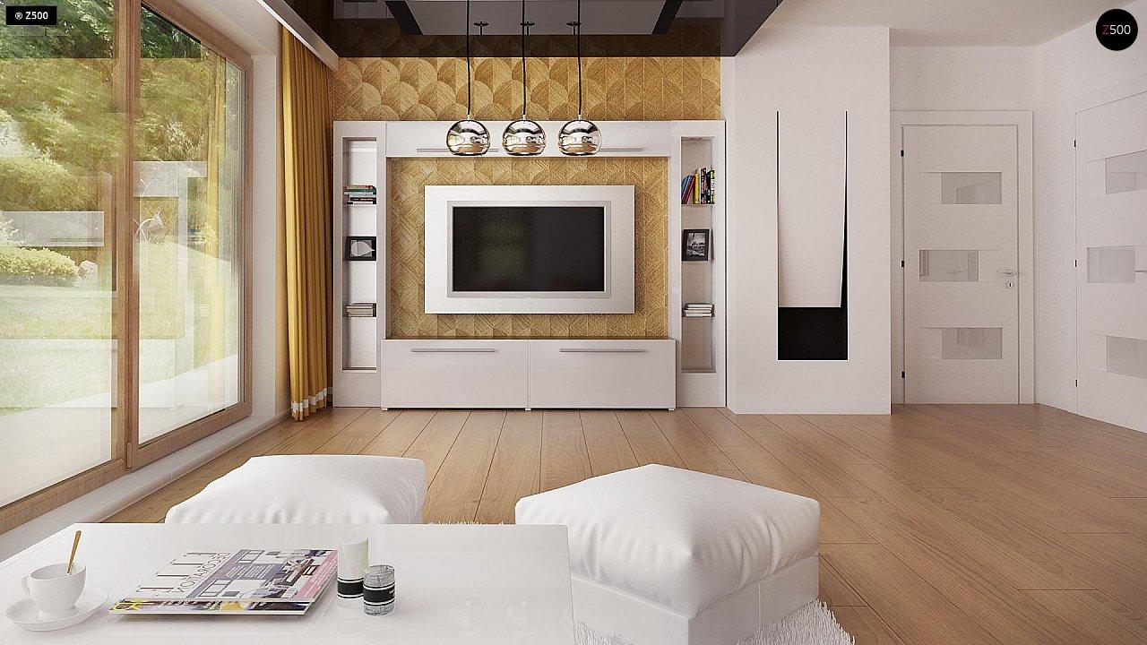 Одноэтажный комфортный дом в стиле хай-тек. 17
