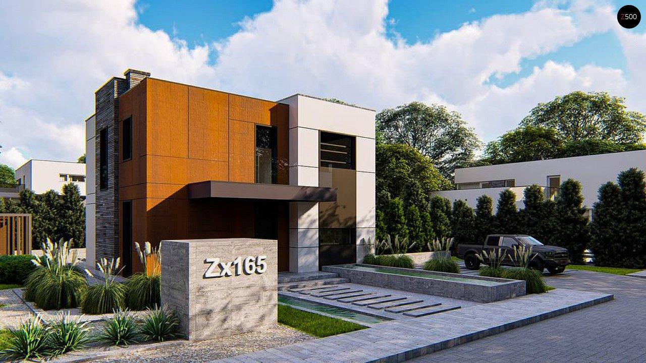 Современный двухэтажный дом без гаража 1
