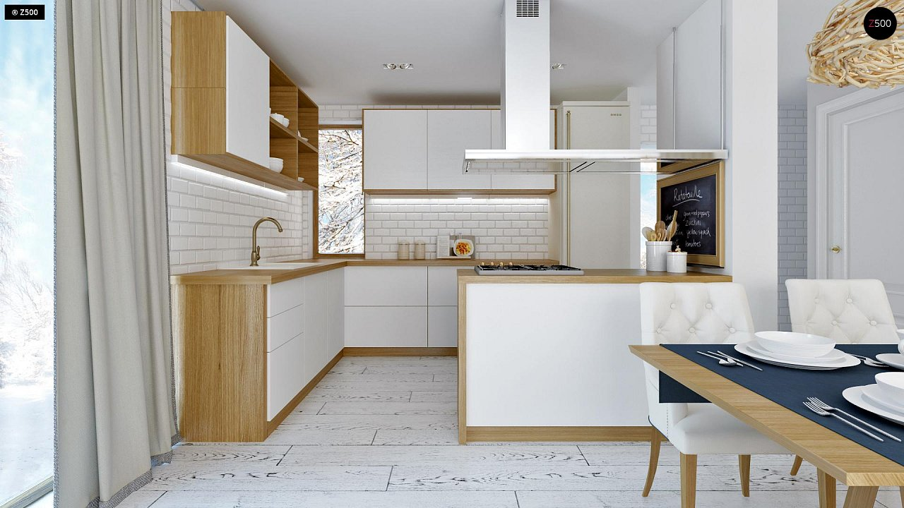 Практичный и уютный дом, идеально подходящий для вытянутого участка. 7
