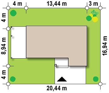 Вариант проекта Zx63 с измененной планировкой помещений. план помещений 1