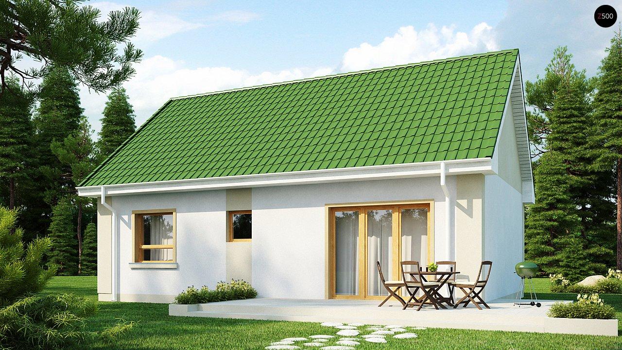 Простой в реализации дом с двускатной крышей, с возможностью обустройства мансарды. 2