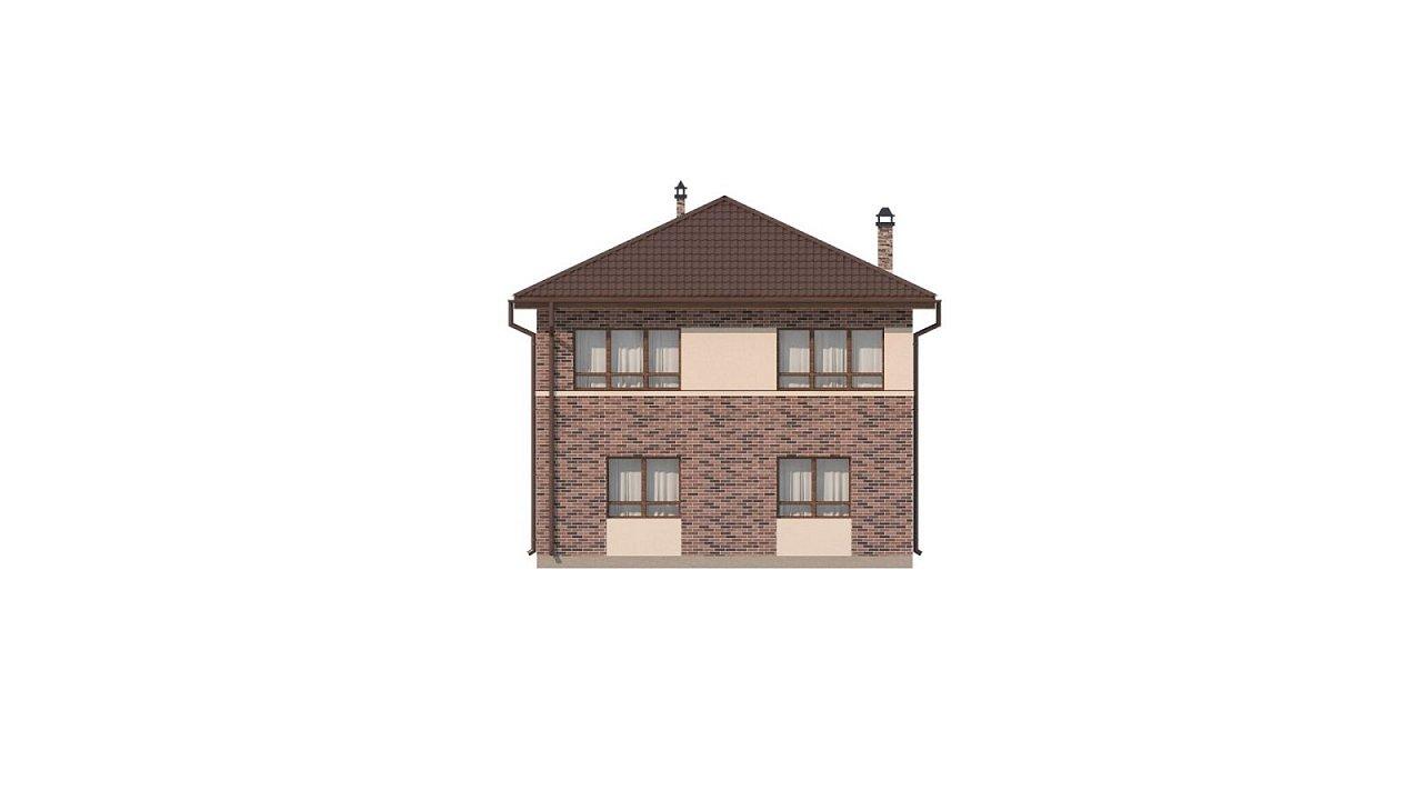 Двухэтажный дом традиционного дизайна 24