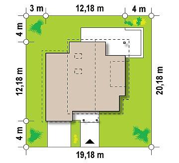 Компактный функциональный дом с оригинальными архитектурными элементами. план помещений 1