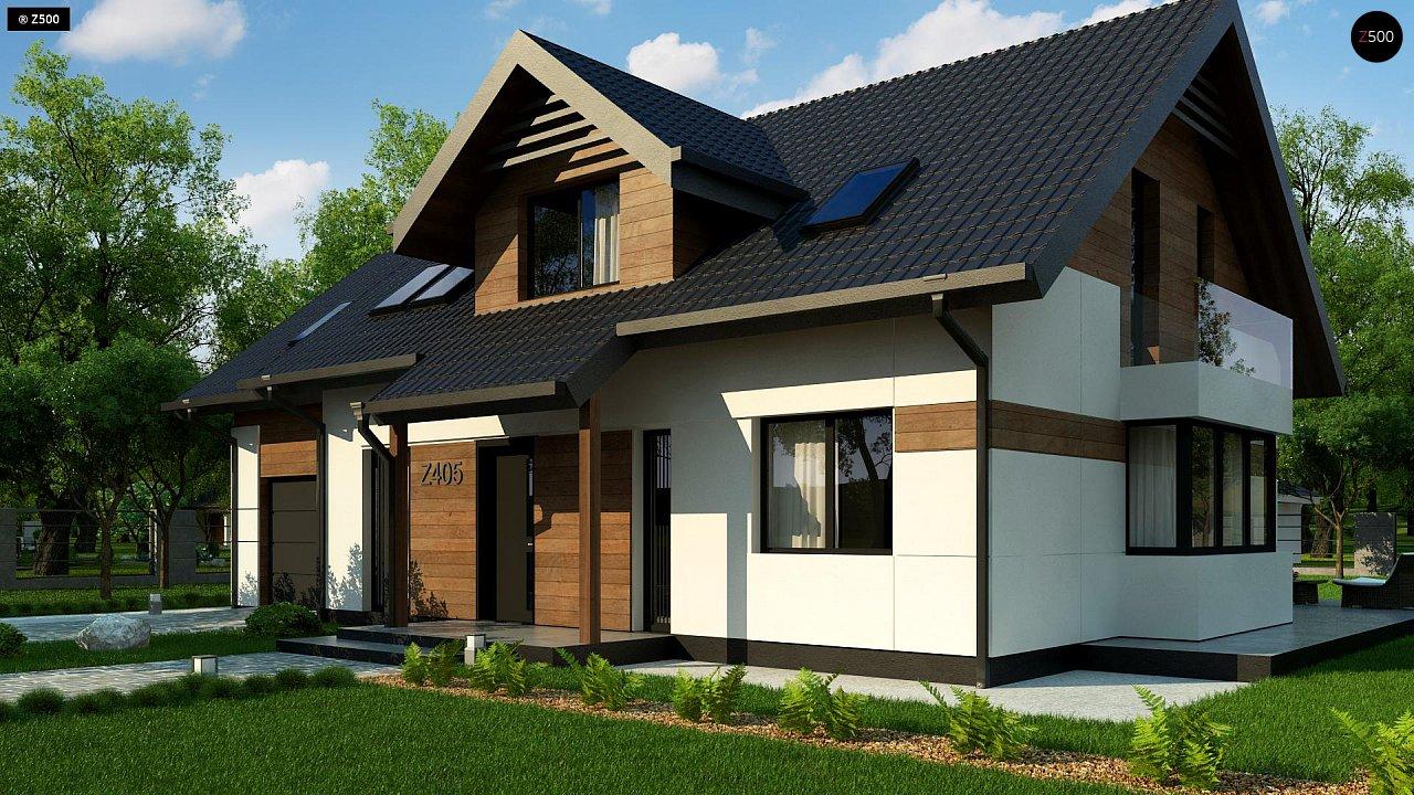 Красивый дом в традиционном стиле архитектуры, с комнатой на пером этаже и гаражом. - фото 5