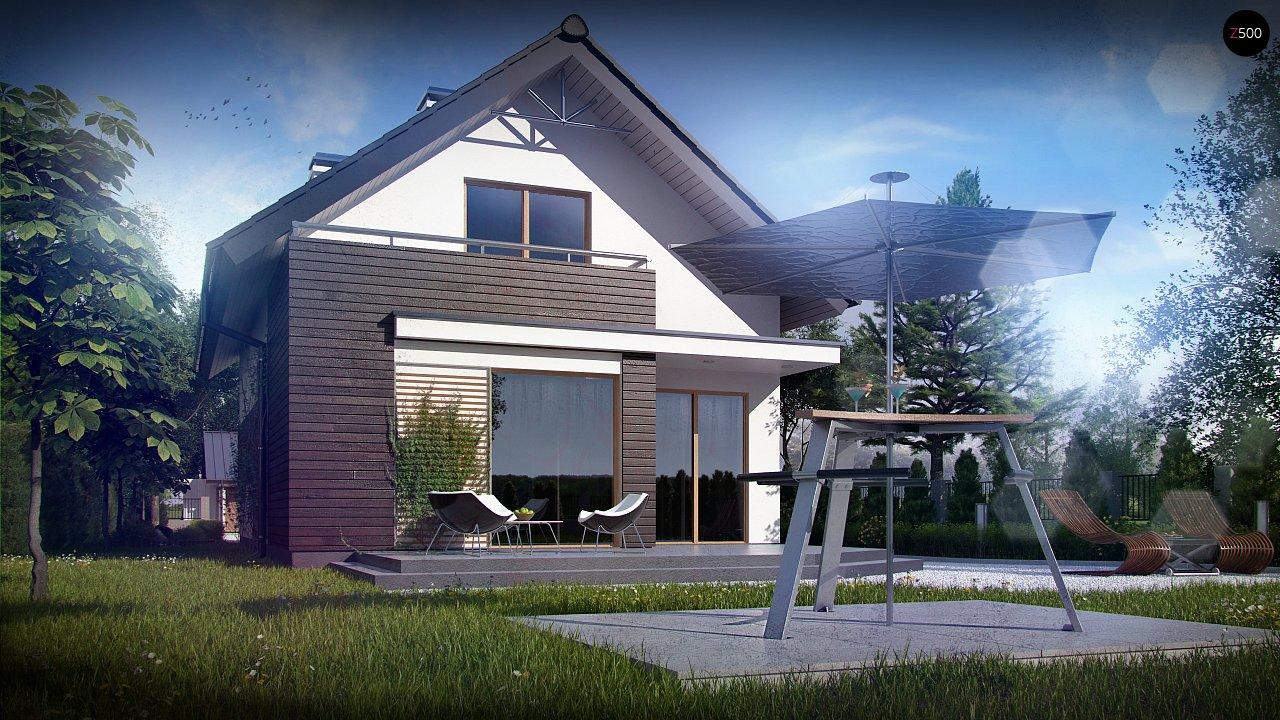 Функциональный аккуратный дом с мансардой, также для узкого участка. 3