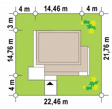 Современный двухэтажный дом с плоской кровлей план помещений 1