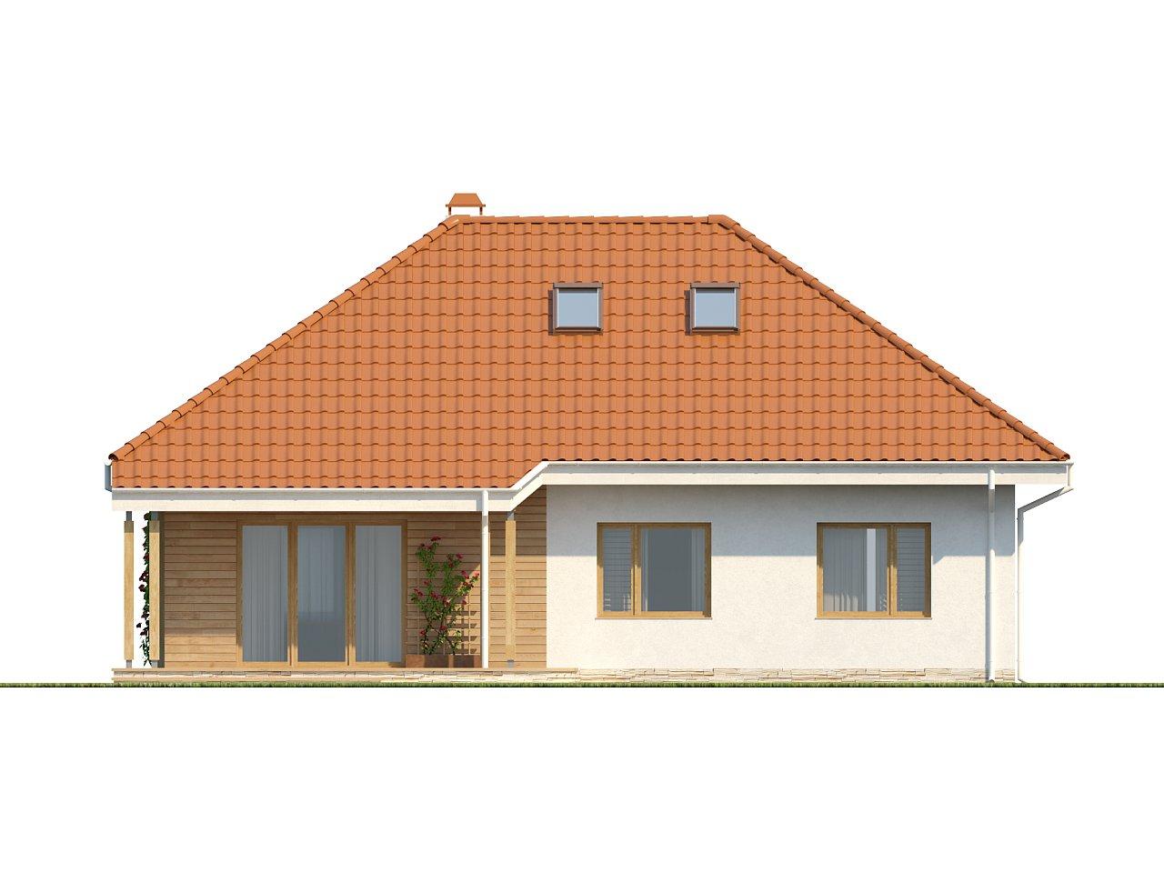 Одноэтажный дом в традиционном стиле с возможностью обустройства чердачного помещения. - фото 5