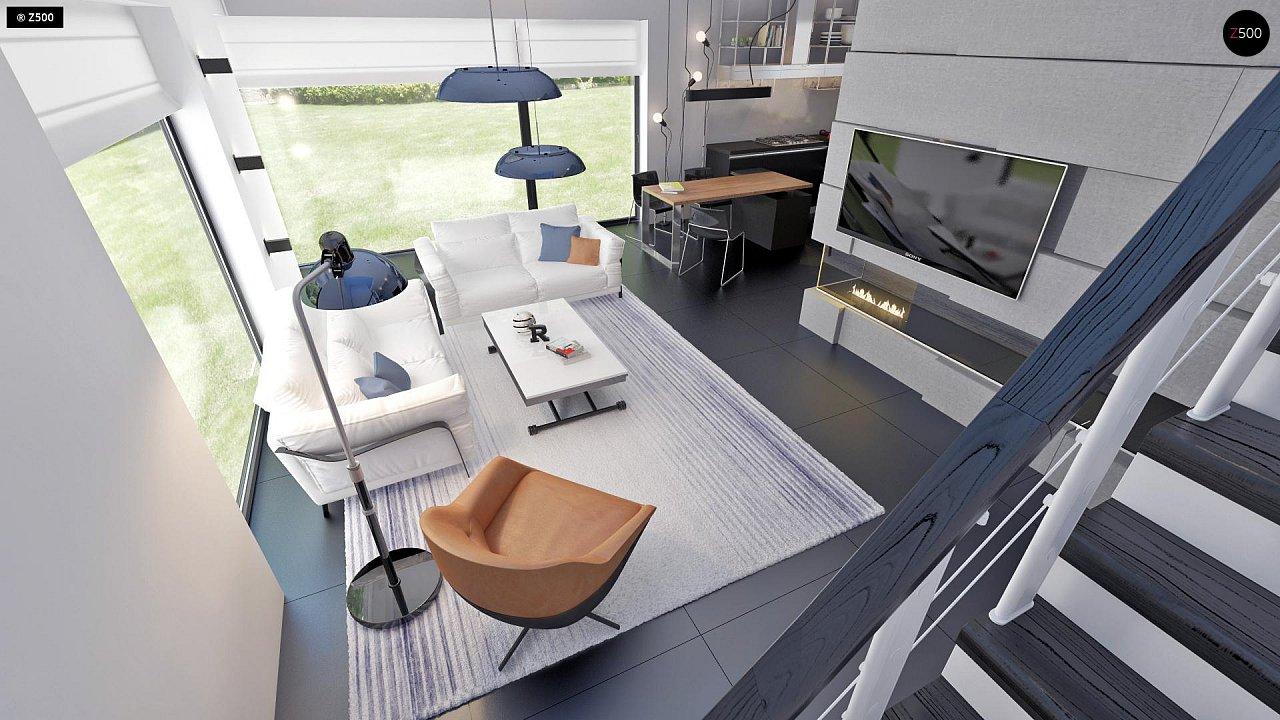 Проект функциональный двухэтажный дом с 4 спальнями и подвалом. - фото 12
