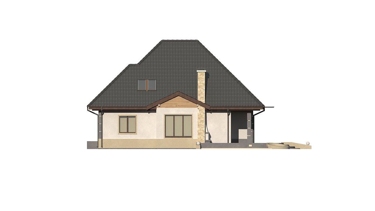 Вариант мансардного дома Z48 без гаража - фото 7
