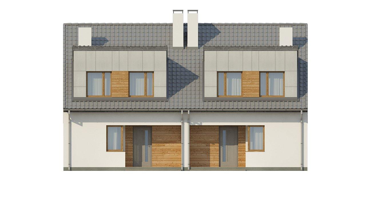 Компактные дома близнецы в современном стиле с уютным интерьером. 13
