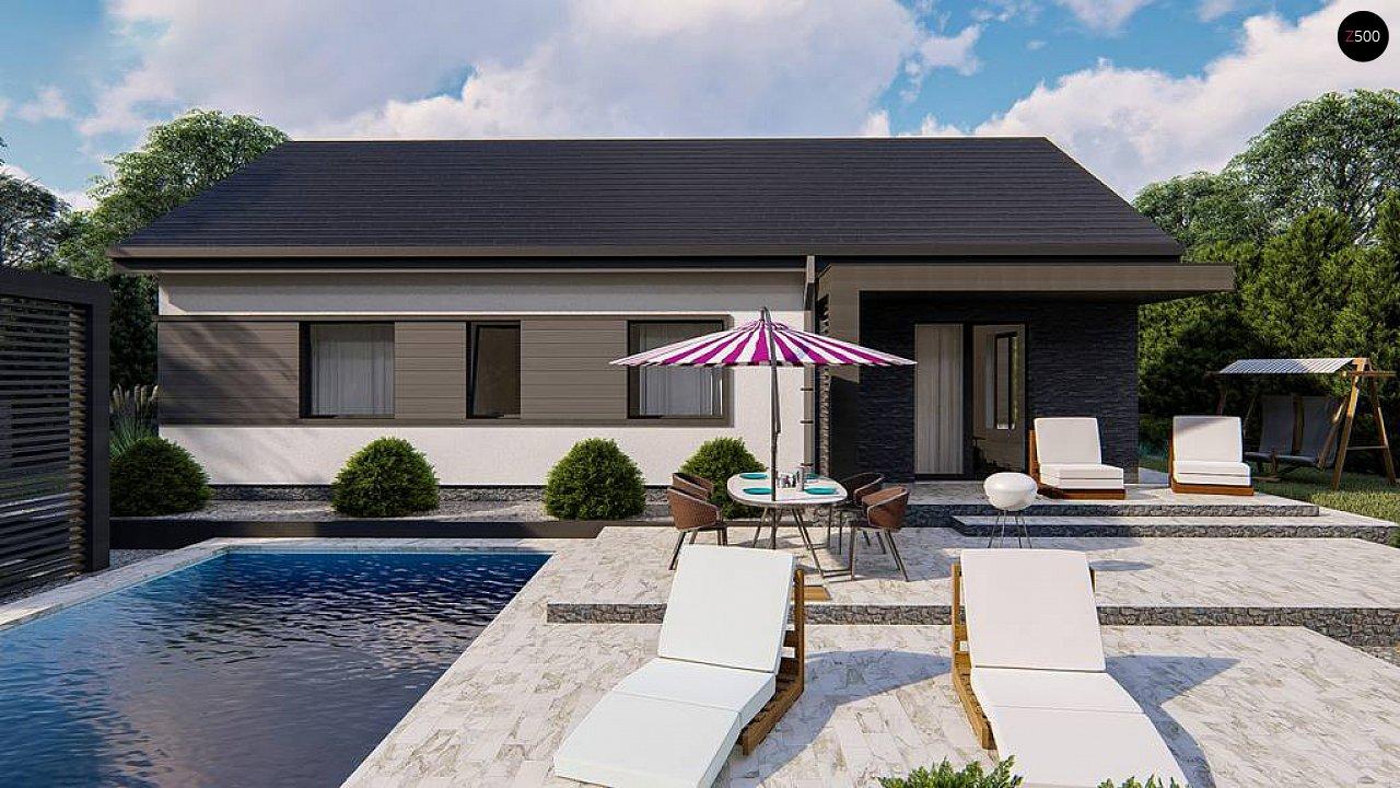 Классический одноэтажный дом с двускатной крышей 4