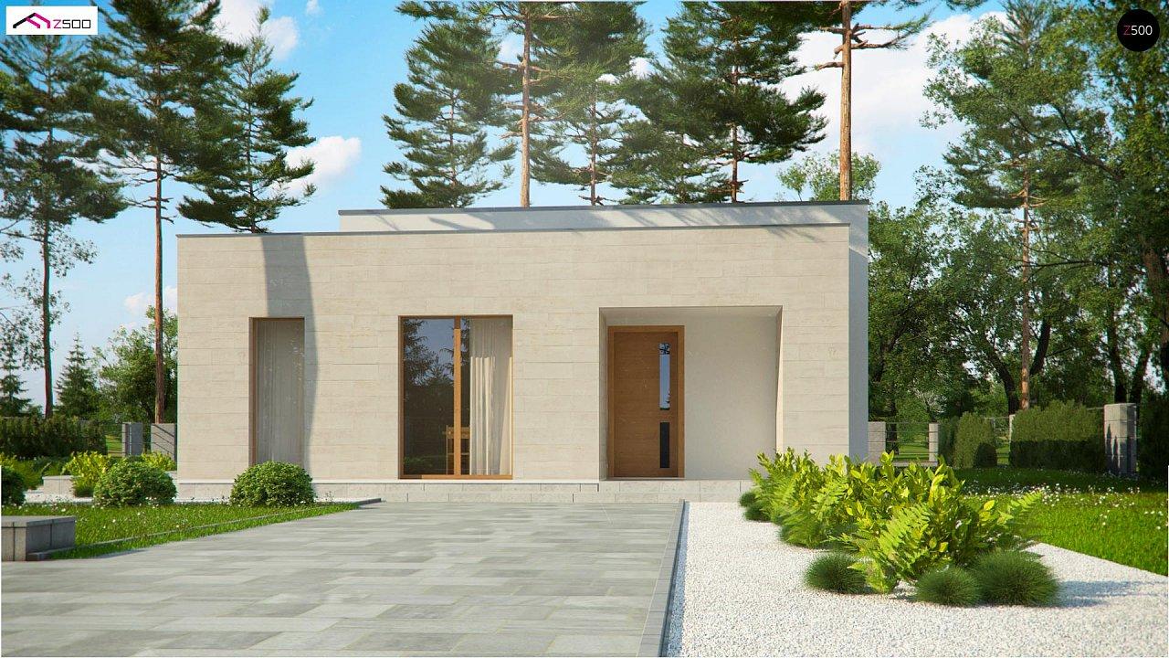 Одноэтажный дом в современном стиле, с большими застекленными окнами 4