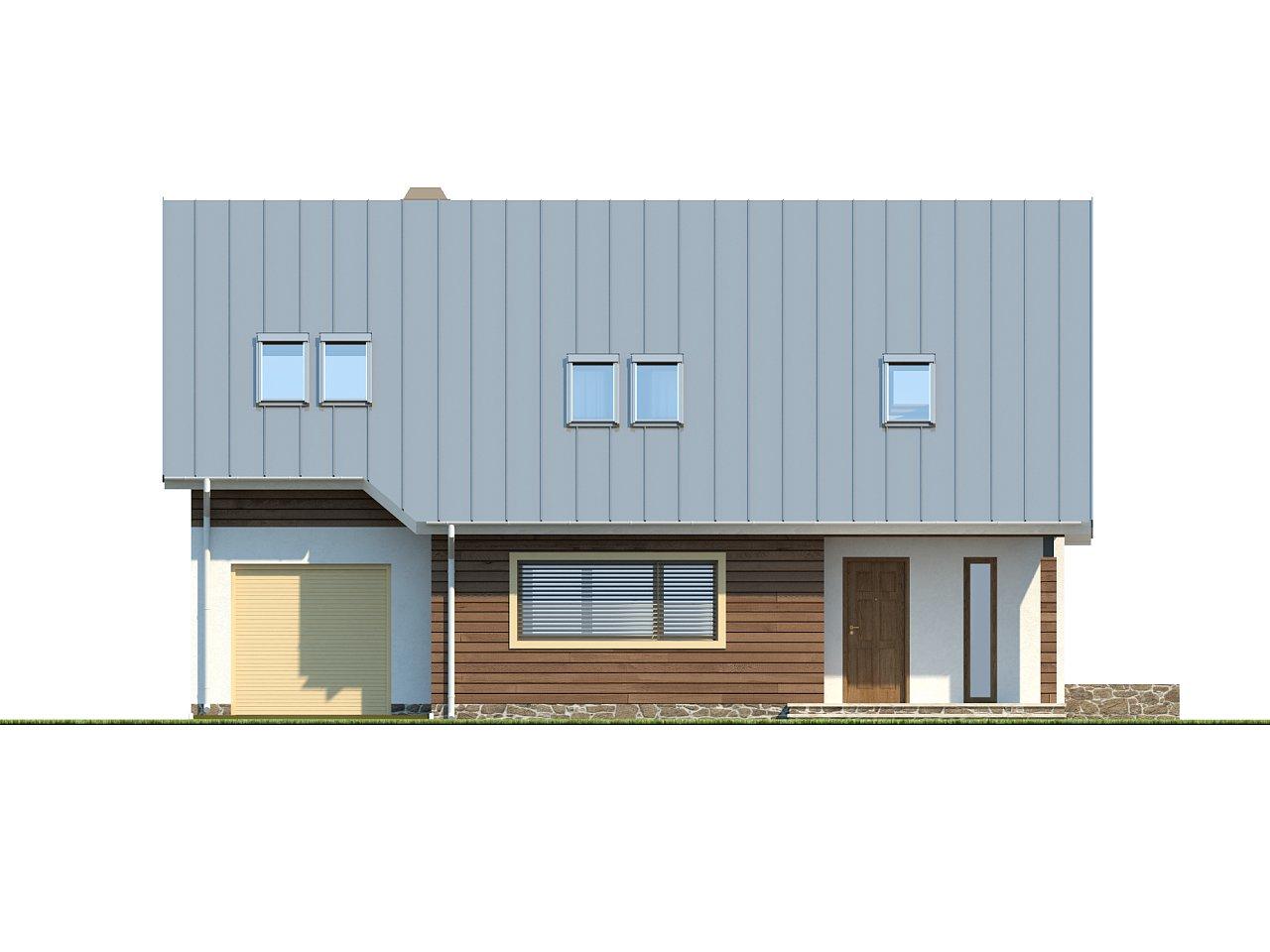 Проект функционального дома с современным мансардным окном, с дополнительной спальней на первом этаже. 3