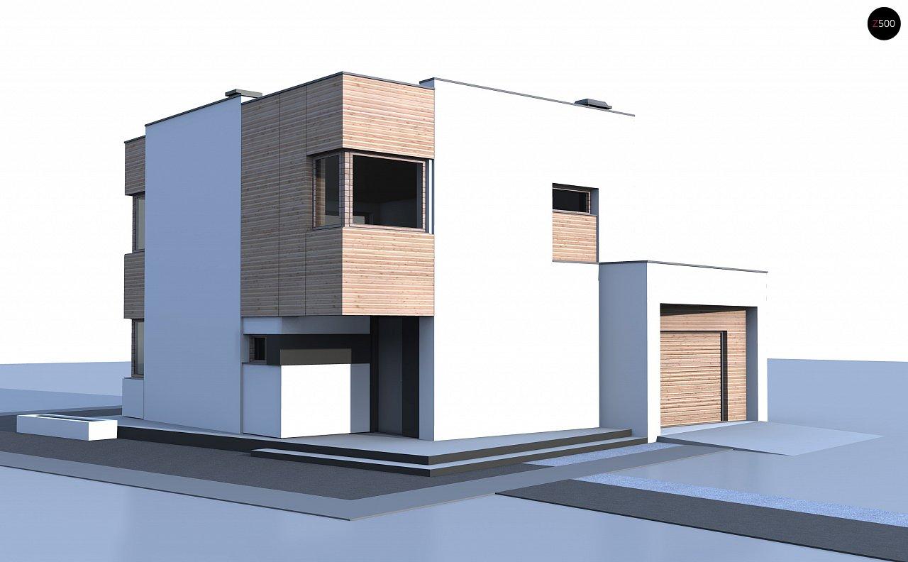 Версия проекта Zx51 с боковым гаражом. - фото 3