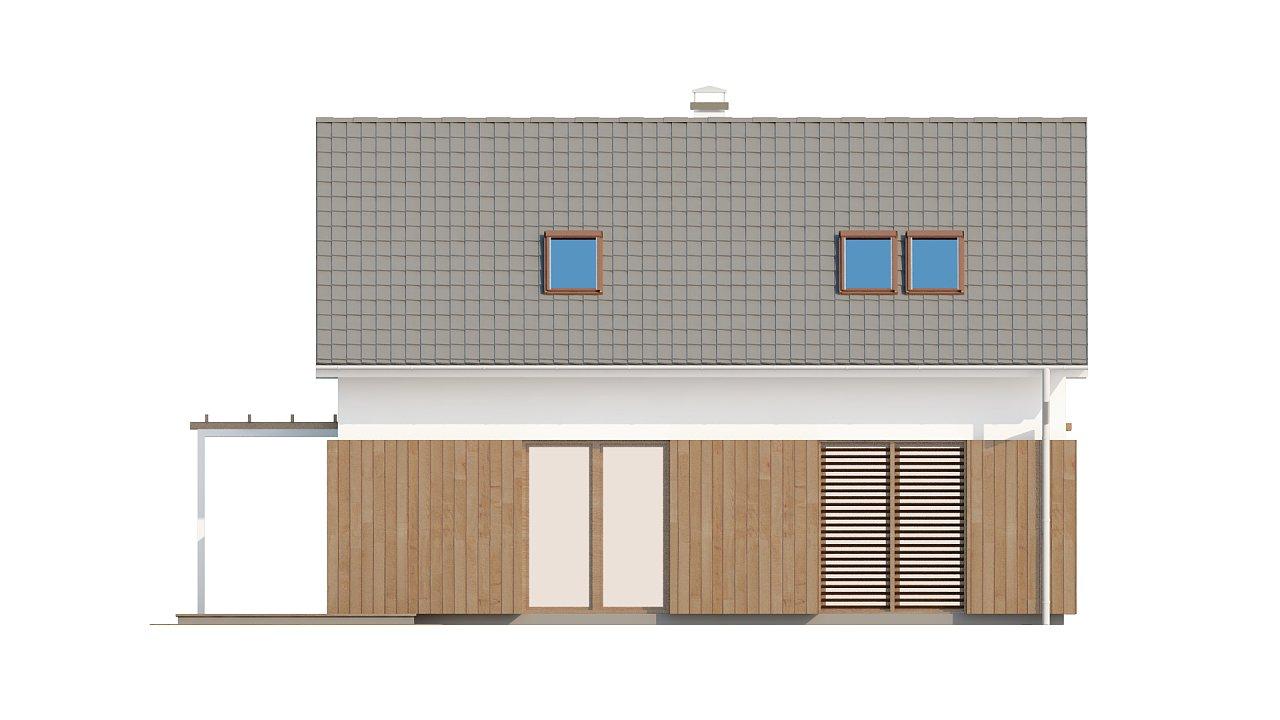 Проект дома в традиционном стиле с двускатной крышей. 5