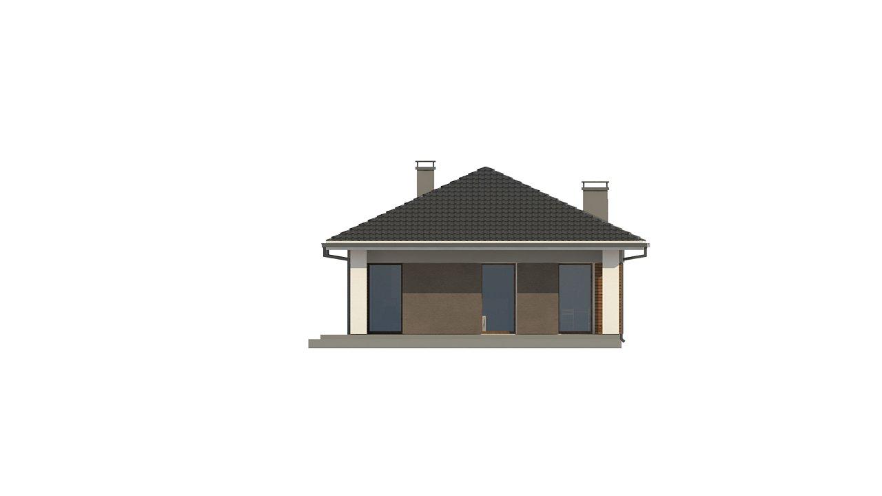 Одноэтажный дом в традиционном стиле с просторной гостиной - фото 8