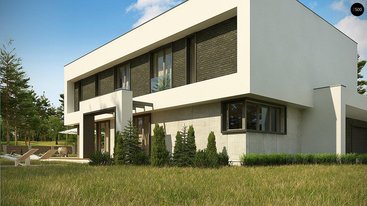 Современный двухэтажный дом с просторной террасой и гаражом на две машины. - фото 10