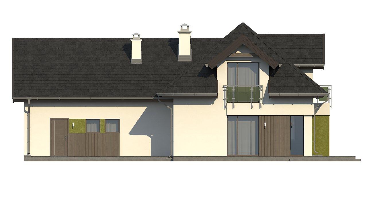 Комфортабельный дом с интересными фасадными окнами, с гаражом на два авто. 5