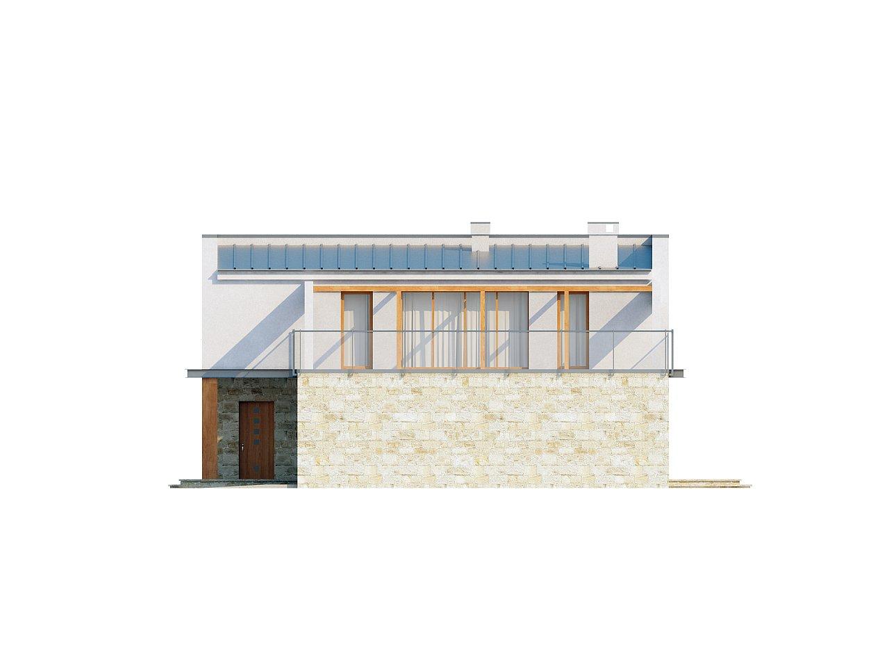 Практичный двухэтажный дом в современном стиле с обширной террасой над гаражом. - фото 5