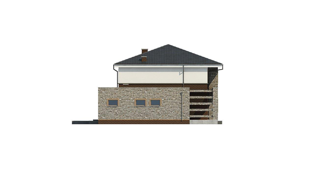 Проект дома с сауной в традиционном стиле - фото 10