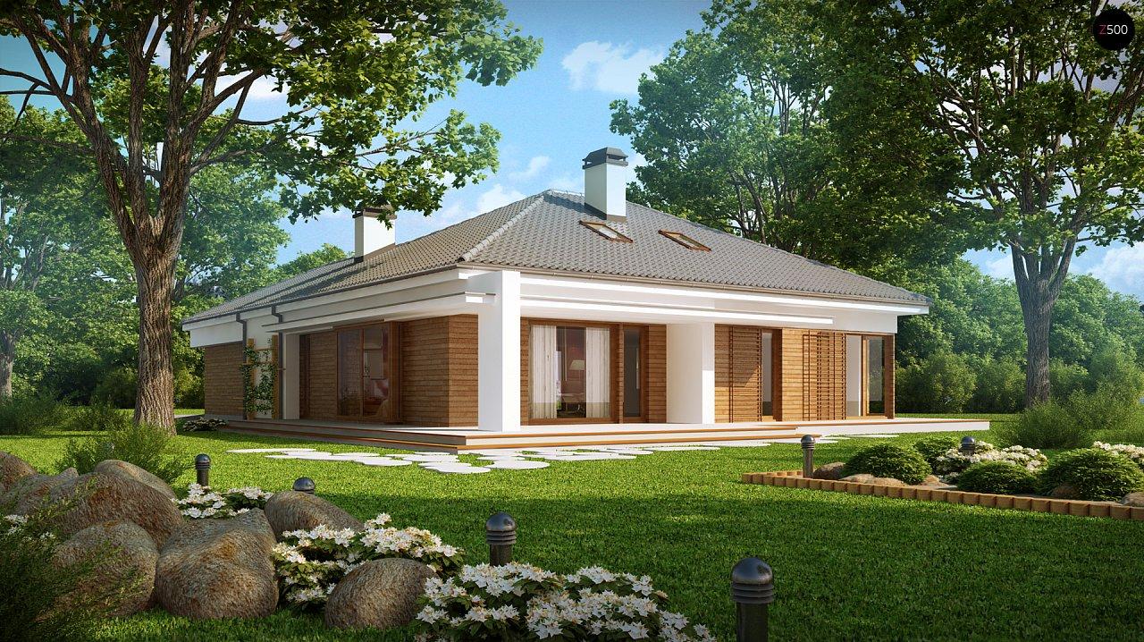 Практичный одноэтажный дом с гаражом, с возможностью адаптации мансарды. 2