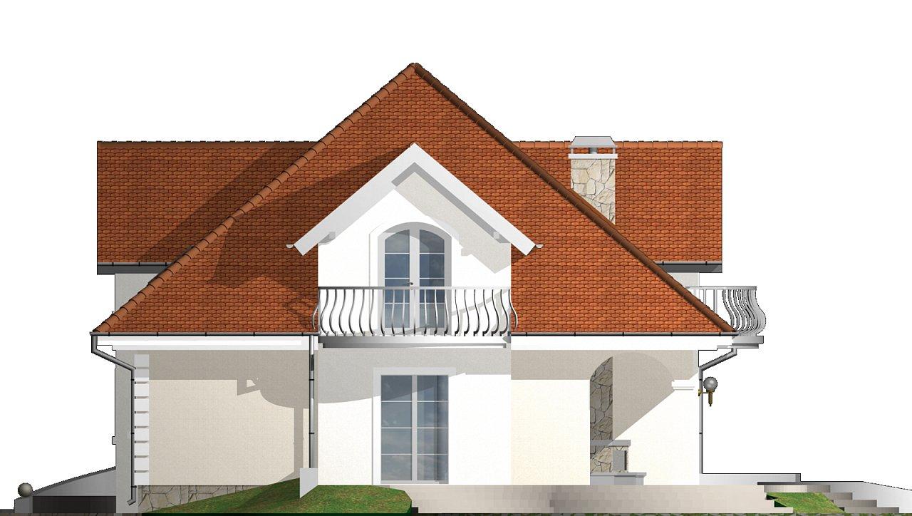 Проект красивого мансардного дома, адаптированный для каркасной технологии 24