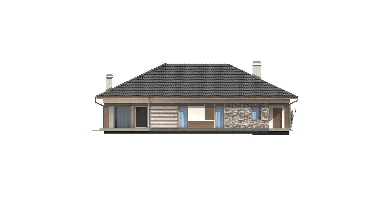 Версия дома Z153 с гаражом, встроенным в корпус здания. - фото 4