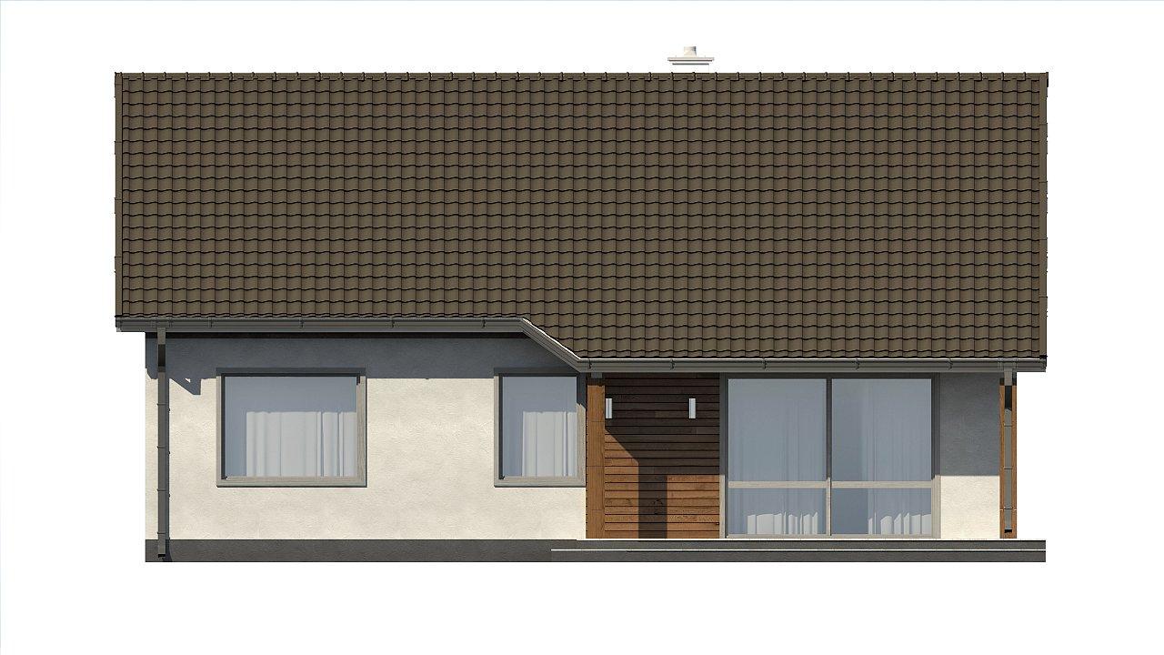 Версия проекта Z7 с углом наклона крыши 35 градусов. 22