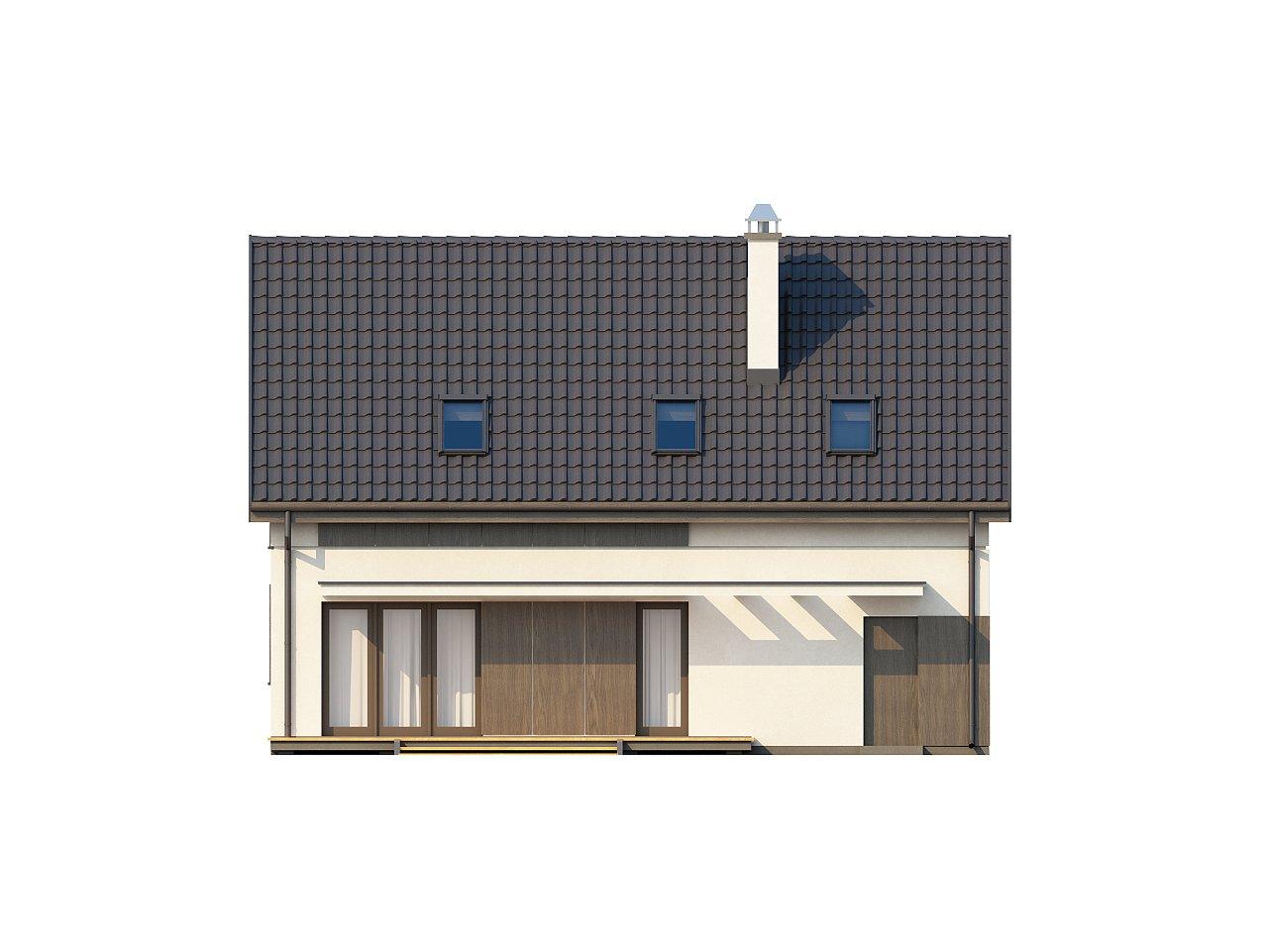 Функциональный традиционный дом с современными элементами в архитектуре, со встроенным гаражом. 14