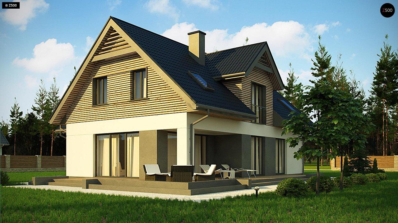 Стильный и аккуратный мансардный дом с гаражом для двух машин. 5