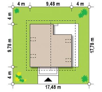 Стильный дом с мансардой, экономичный в строительстве и эксплуатации. план помещений 1