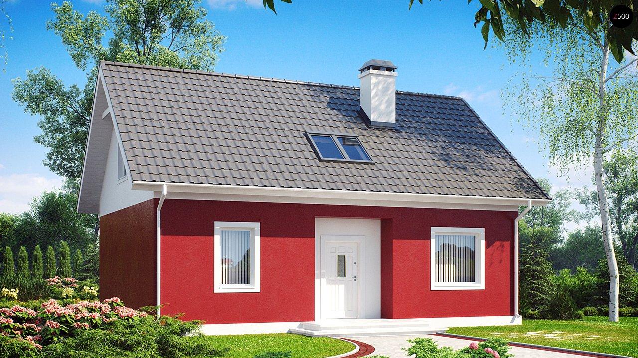 Практичный дом для небольшого участка, простой в строительстве, дешевый в эксплуатации. 2
