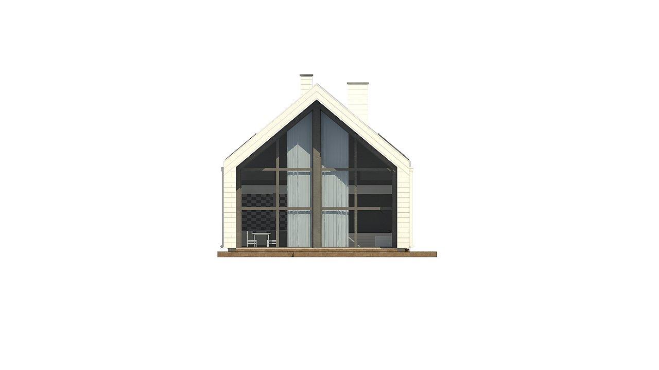 Мансардный дом со встроенным гаражом для одного автомобиля. 17