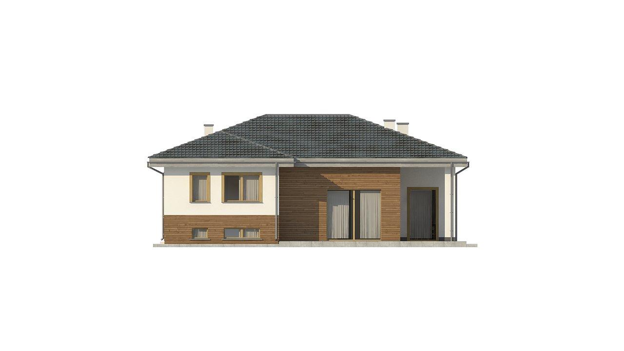Красивый и комфортный однэтажный дом с цоколем 8