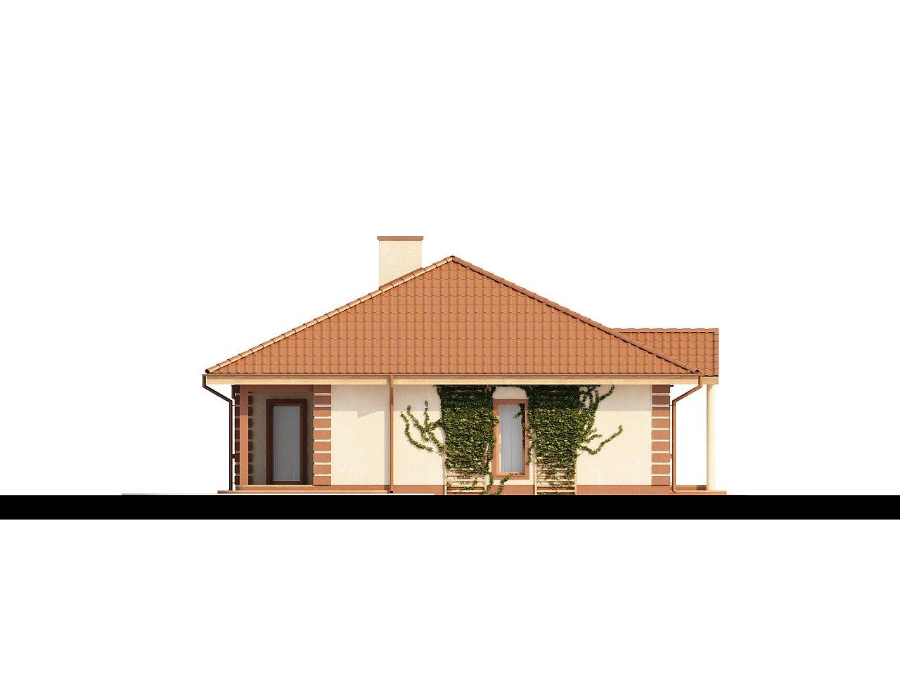 Стильный традиционный одноэтажный дом с гаражом для двух машин. 6