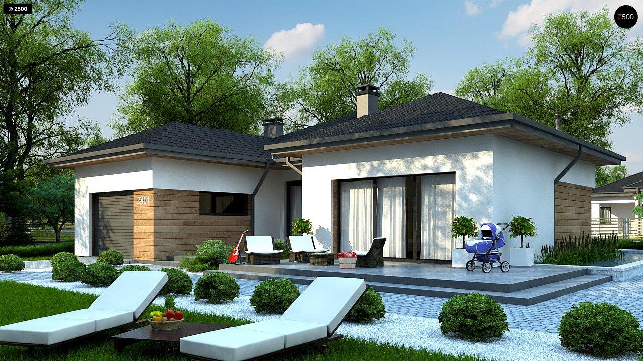 Проект комфортного одноэтажного дома в европейском стиле. 1