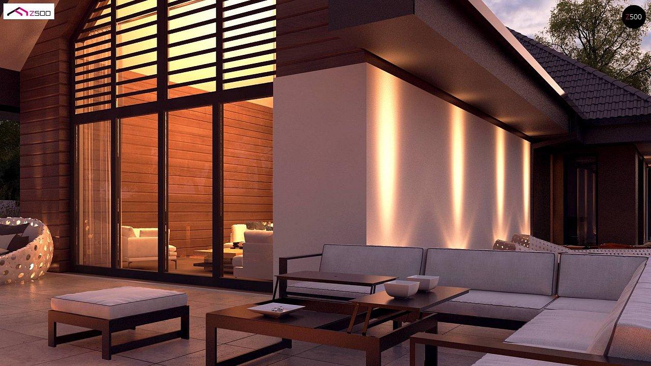 Увеличенная версия Z402 одноэтажный дом с гаражом на два автомобиля - фото 5